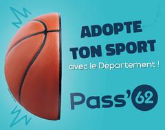 ADOPTE TON SPORT : 15 EUROS OFFERTS SUR TA LICENCE SPORTIVE AVEC LE PASS'62 !